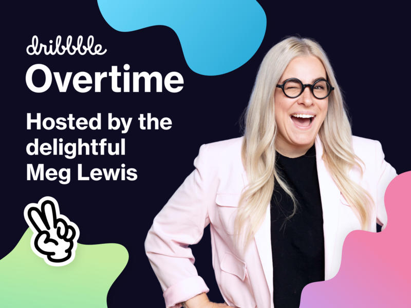 🎧 Overtime is back with new host, Meg Lewis! fun community graphic design design host meg lewis podcast overtime