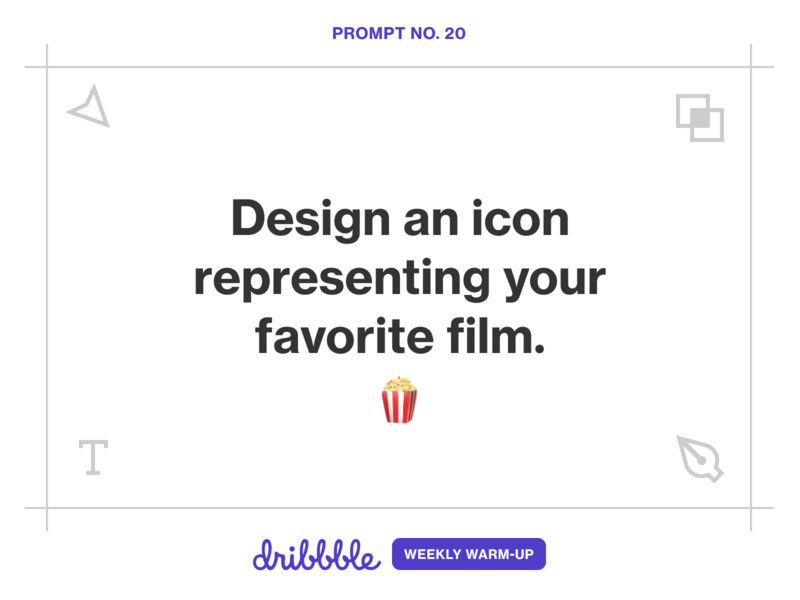 Design an Icon Representing Your Favorite Film movie film icon weekly challenge grow learning design community fun weekly warm-up dribbbleweeklywarmup