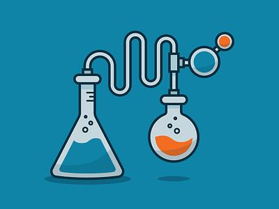 For Science! reactions chemical flask beaker bubble bottle chemistry science illustration