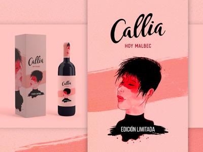 Wine Label Illustration   Bodegas Callia