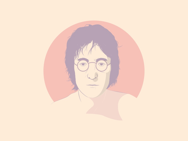 John Lennon Illustration art thedominguez illustration art thebeatles lennon johnlennon vector illustrator adobe photoshop adobe illustrator illustration