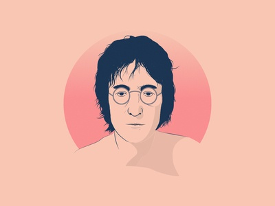 John Lennon Illustration version 2 illustration art art thedominguez john lennon thebeatles johnlennon vector illustrator adobe illustrator illustration
