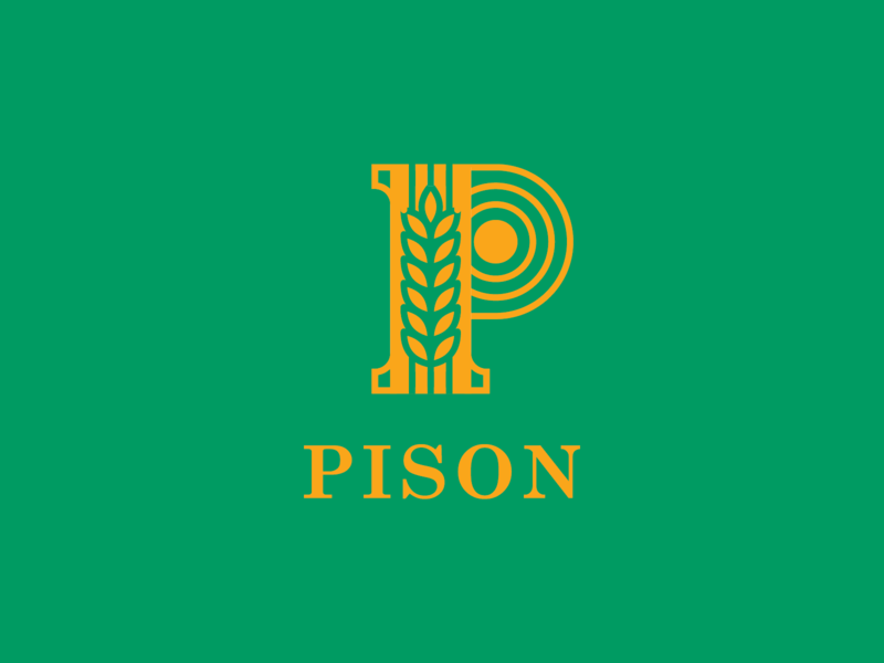 Pison - Unused Option - 01 branding design branding 2019 pison river p logo p letter organic rice illustrator paddy vietnam saigon organic food organic rice logo pison