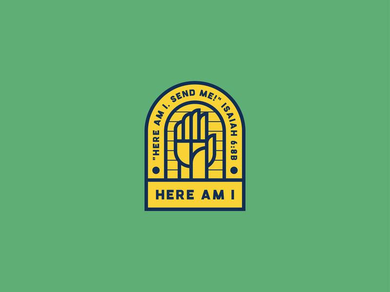 Here Am I - Opt 1 icwd volunteer 2019 ldk ledangkhoa proposal bible saigon charity charity group palm hand drawn raising hand illustration christian logo here am i vietnam isaiah