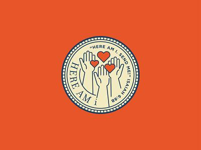 Here Am I - Final le dang khoa ldk bible isaiah 2019 heart raising hand raising volunteer here am i illustration christian branding logo saigon vietnam