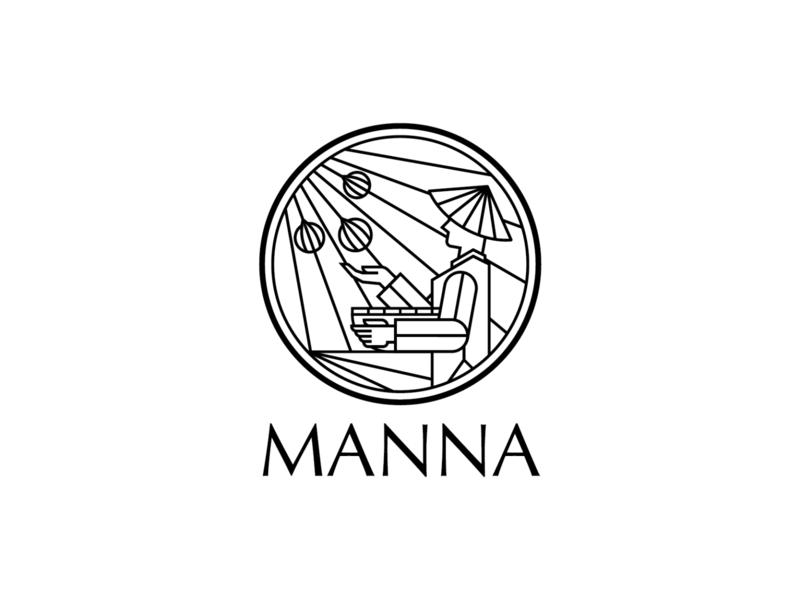 Manna Logo vietnam saigon farmer conical hat straw hat 2019 ldk le dang khoa branding logo agriculture logo receive organic food organic manna non la
