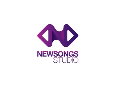 Newsongs Studio Logomark newsongs studio logo mark brand music identity vietnam violet icon saigon