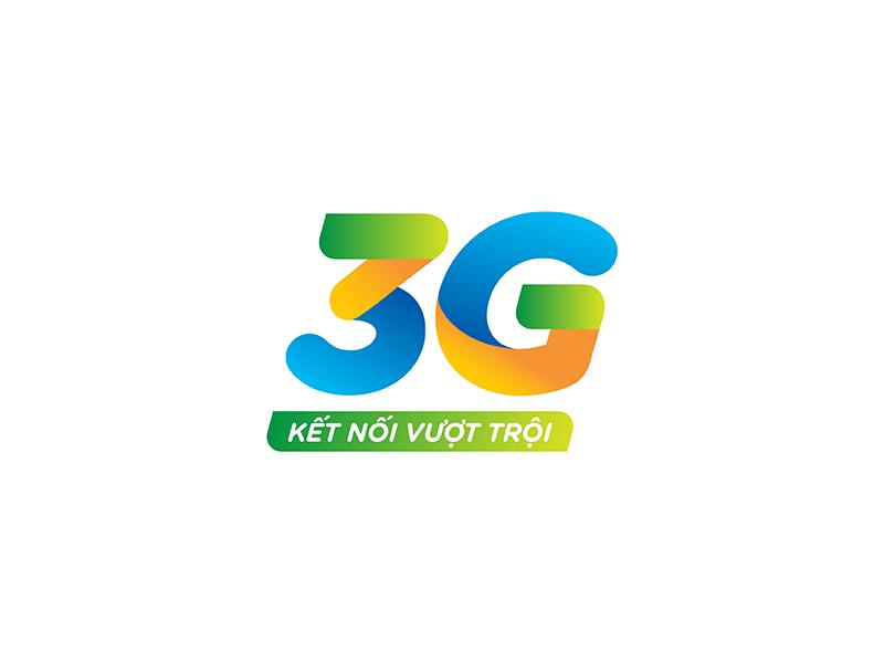 3g Logo Proposal 03 gradient vibrant internet mobile proposal orange green blue vietnam telecom 3g