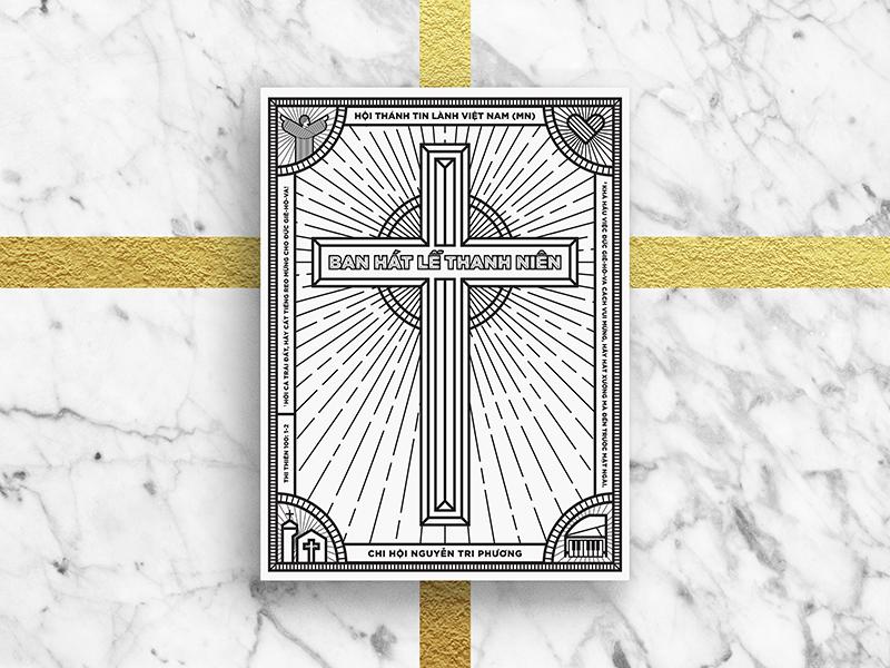 Youth Praising Cover monogram christian project worship ntp youth ntp church ldk praising cover illustration graphic psalm 100 saigon vietnam