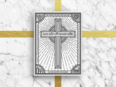Youth Praising Cover monogram christian project worship ntp youth ntp church ldk praising cover illustration graphic psalm 100 saigon vietnam