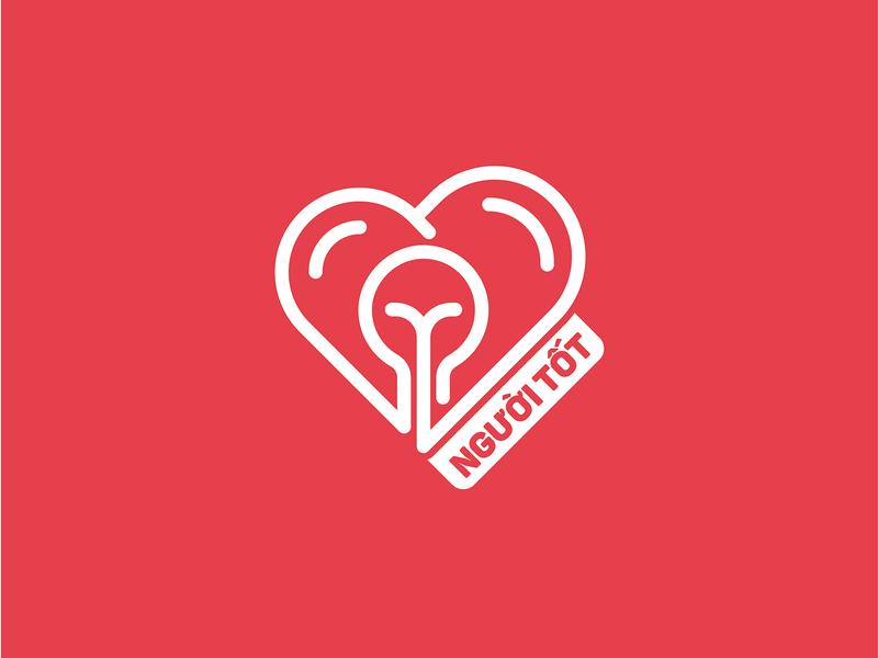 NGUOI TOT - Unused Version ldk ledangkhoa 2019 heart light bulb goodness good guy nguoi tot illustration branding logo saigon vietnam