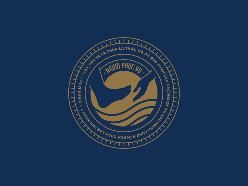 The Servant - 2019 in christ we design icwd john 13 vietnam christian bible saigon 2019 2008 ldk le dang khoa refresh monograms graphic logo badge nguoi phuc vu phuc vu servant