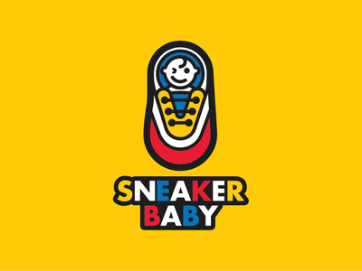Sneaker Baby baby in shoe shoe graphic toddler branding saigon vietnam logo girl boy kid sneakerbaby baby sneakerhead sneakers