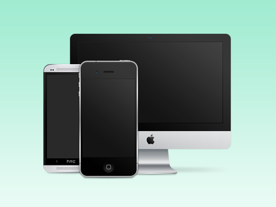 Devices imac htc iphone vector