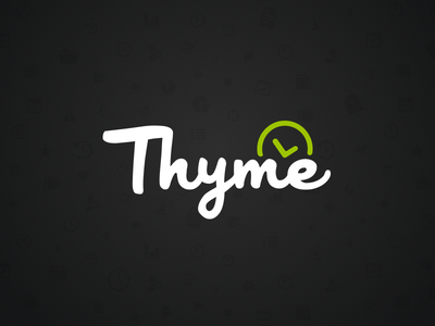 Project Thyme - Timetracking Tool time thyme web tracking track logo icon clock