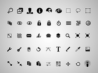 a bunch of glyphs