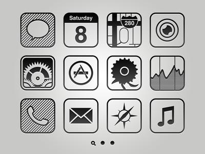 Monocolor Vector Homescreen monocolor vector ios iphone icons