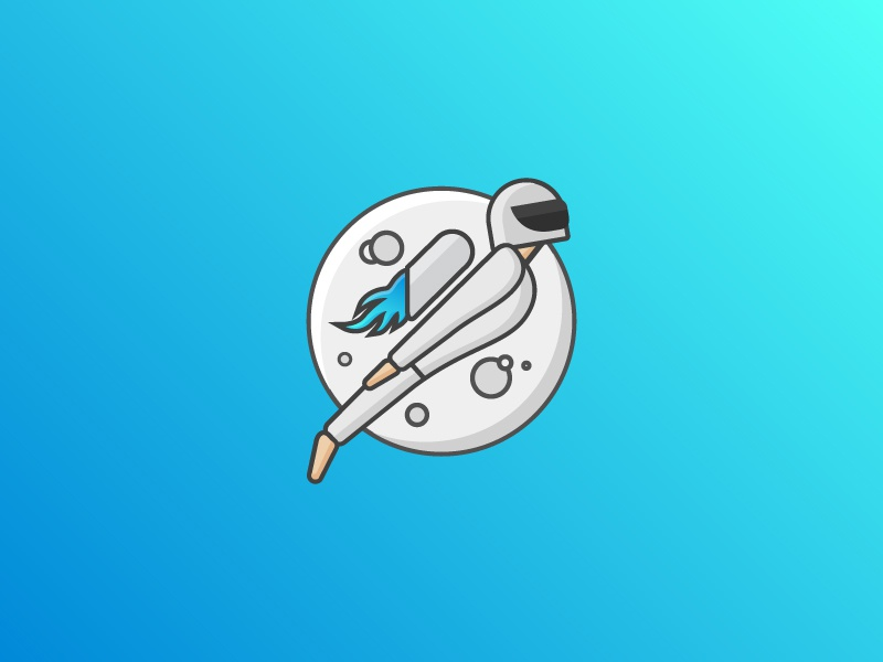 Best Version of Yourself - Astronaut illustration outline illustrations outline logos blue gradient moon astronaut logos illustration