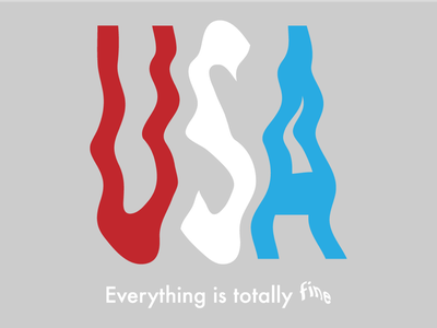 How it feels america united states shutdown government red white and blue graphic design fine usa