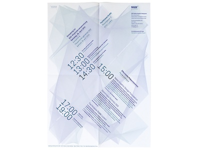 SGD General Assembly Flyer (back) flyer generative print