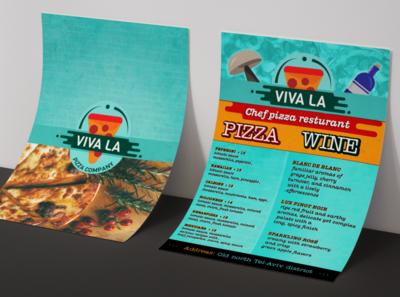 Viva La Pizza Company flyer
