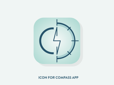 Compass icon #005 DailyUI minimal app design icon adobe xd