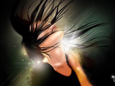 Spirit vector illustration light