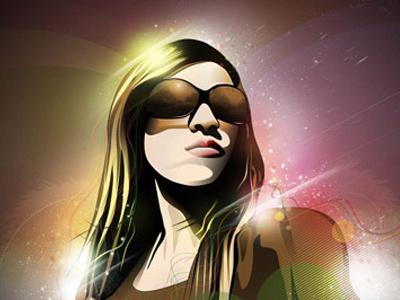Jesus Wear 24-7 Lady vector illustration light