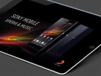 Client: Sony Music (London) sony ipad presentation marketing photoshop illustrator energy futuristic modern digital sliderocket