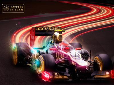 Formula 1 Lotus Case futuristic speed grand prix racing cars formula 1 lotus lighting effect motorsport helmet wheels swoosh photo illustration
