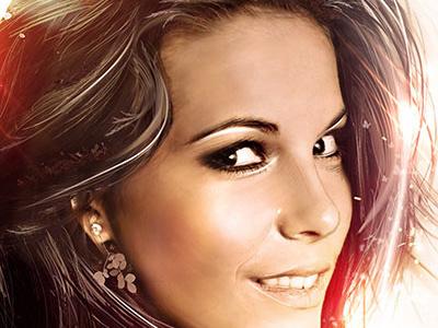 Her Growth 2 lighting effects woman lady girl photo manipulation heaven hair beautiful
