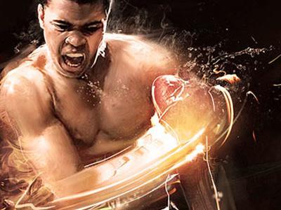 Ali v Sonny mohammad ali sonny liston boxing boxing match fighting photoshop illustration photo manipulation lighting effect