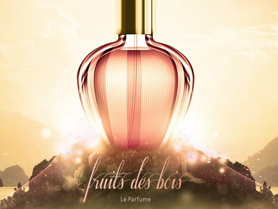 Flowii lighting effects photo manipulation aftershave bottle perfume