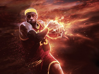 Official NBA Project: Final Render mvp slam dunk nba fire sport lebron james basketball