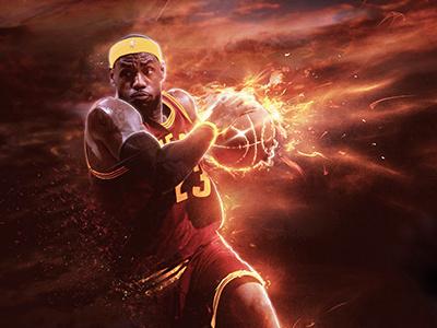Official NBA Project: Final Render mvp slam dunk nba fire sport lebron james basketball