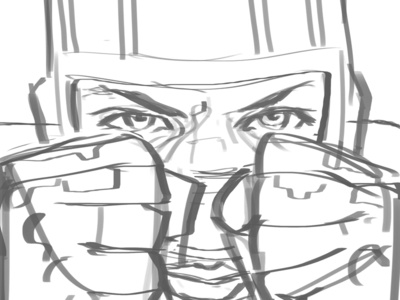 Kickass WIP photoshop digital portrait film illustration wip kick ass