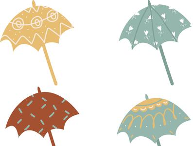 Vector umbrella узор орнамаент вектор зонтик illustrator design portrait artwork графический дизайн vector icon pattern ornament umbrella
