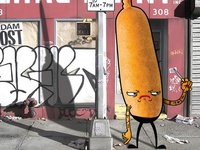 Rude Food Corndog