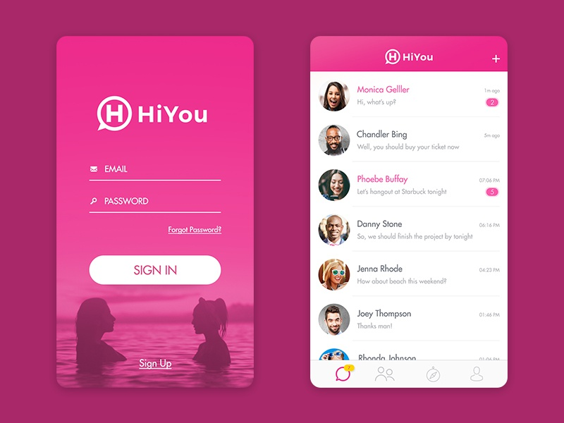 Simple chat ui app by kukuh aldyanto dribbble for Easy app design