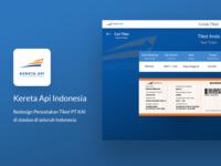 Redesign Pencetakan Tiket Kereta Api Indonesia