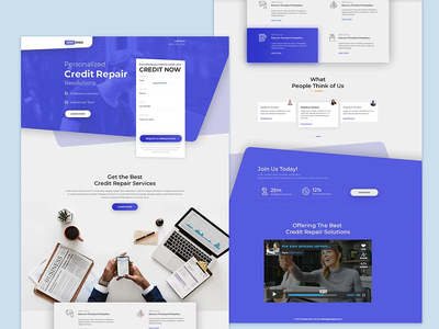 Credit Repair Landing Page Design unbounce lead psd mockup buy graphicdesign shopping webdesign custom psd credit repair credit credit card landing page design landing pages ui ux landing page ui design landing page creditrepair