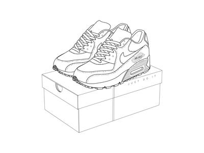 Nike AirMax Line Art