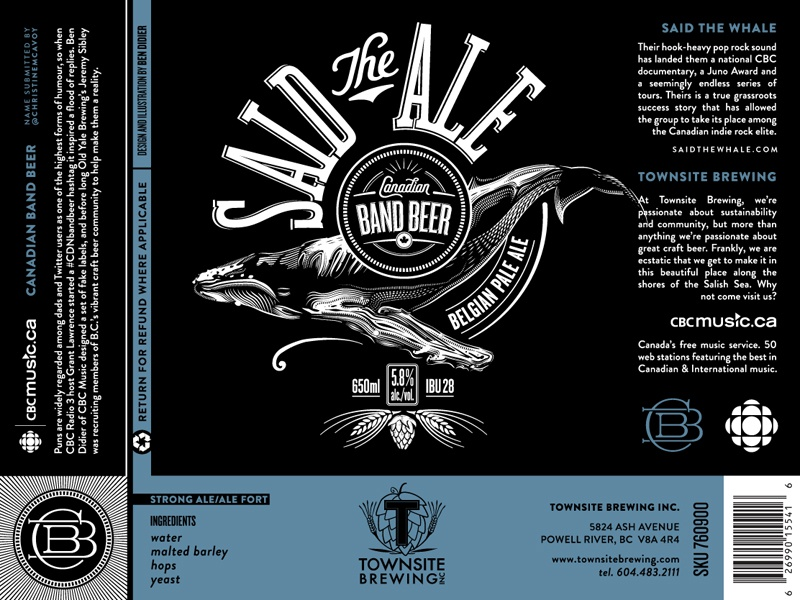 Said the Ale cbc beer label packaging music craft beer