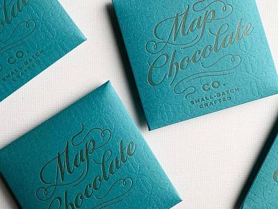 Map script logo label packaging branding lettering typography