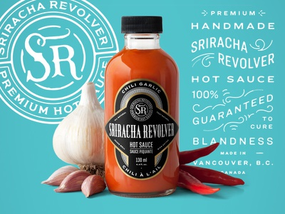 Saucy monogram photography logo label packaging branding lettering typography
