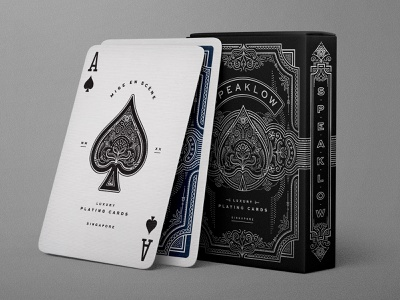 Speaklow playing cards design label packaging illustration typography