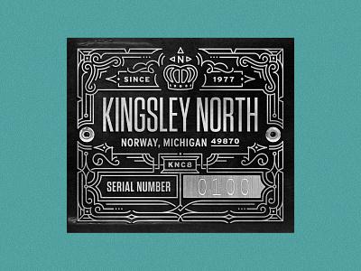 Kingsley North linework ornate packaging typography