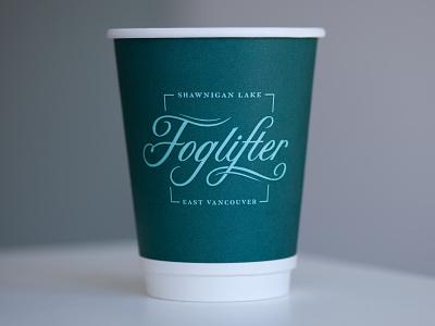 Foglifter Script coffee script logo packaging branding lettering typography