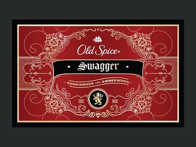 Swagger filigree ornate monoline design packaging illustration