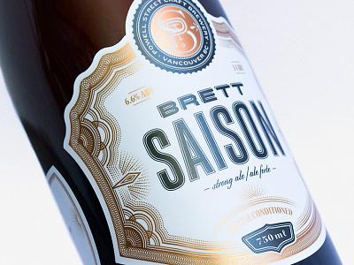 Brett Saison label illustration lettering typography beer